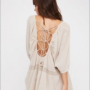 Free People Savannah Crochet Tunic XS